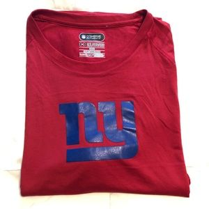 Under Armour NFL NY Giants Red Tee 2 XL